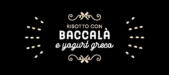 Risotto con baccalà e yogurt greco
